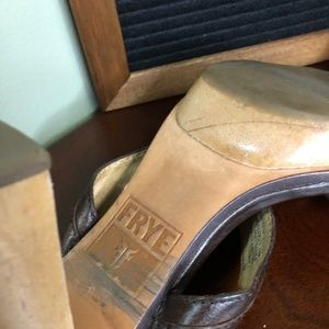 Frye Shoes - Frye Gerry slide wooden heeled sandal, 8M